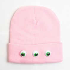Add doll eyes to your kids beanie and make a freaky fabulous fashion statement.