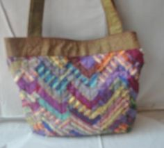 Leftover fabric shopping bag, handmade by disadvantaged producers group. #fairtrade#handmade
