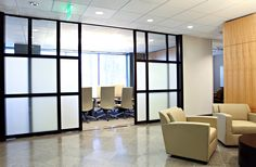 Space Plus, a division of the Sliding Door Company - Office Partition Walls - Glass Office Cubicles, Enclosures & Movable Walls - We manufacture & install glass office partitions, cubicles, enclosures, room dividers, privacy walls & doors in clear to opaque glass styles