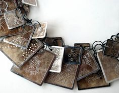 "Click to enlarge image. Artist: Kiff Slemmons: Kiff Slemmons ""Catalog"" Necklace (detail)"