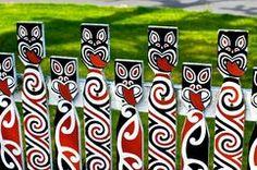 maori koru designs - would look effective as a class art display