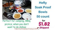 WOOHOO! What a great deal! Get a 50 count of Hefty Bowls for only $1.82 shipped! Perfect for when you don't want to do dishes, camping, picnics!  Click the link below to get all of the details ► http://www.thecouponingcouple.com/hefty-bowls/ #Coupons #Couponing #CouponCommunity  Visit us at http://www.thecouponingcouple.com for more great posts!