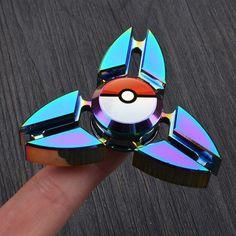Pokemon Go Fidget Spinner Metal Tri Spinner Stress Hand Spinner #1hrdeals