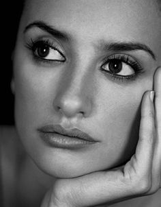 Beautiful portrait of Penelope Cruz