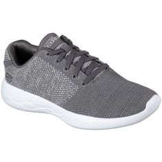 Skechers Women's Skechers Gorun - Arise Gray 5.5 - Skechers... ($62) ❤ liked on Polyvore featuring shoes, grey, breathable shoes, skechers, skechers shoes, skechers footwear and cushioned shoes