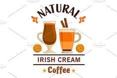 Irish cream coffee emblem. Premium Icons. $6.00