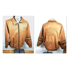 Barrie on one arm and Colts on other are also raised embossed. Specialty Item for Team Player / Coach Rare HTF. Mens Big And Tall, Big Men, Big & Tall, Suede Jacket, Leather Jacket, Hockey Players, Team Player, Blue Shirt With Jeans