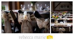 Rustic Barn Wedding Reception and Details. Photos by Rebecca Marie Photography.