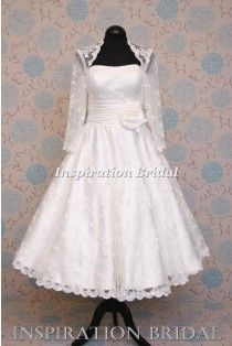 1375 long sleeves Queen Anne Neckline short lace wedding dress