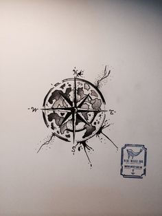 Compass Tattoo Design #4 From Blue Whale Ink Design by _park_tae_ Work In Korea, Seoul, Hongdae Kakao: taemin0509 Insta: _park_tae_ Email: hopetaemin@naver.com Phone: 010.9922.2511