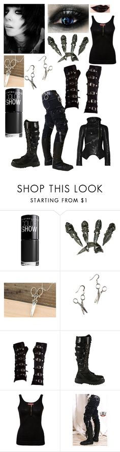 """""""Edward Scissorhands"""" by bailey132 ❤ liked on Polyvore featuring Maybelline, Poizen Industries and Alexander McQueen"""