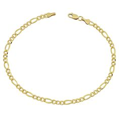 Jewelry & Watches Liberal 14k Yellow Gold And Sterling Silver Rolo Link Station Open Heart Anklet Bracelet Buy Now