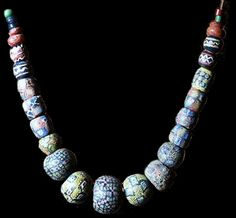 Viking millefiori beads. From Scandinavia c 800 to 1000 (from Dubin, Lois S. The History of Beads from 30,000 B.C. to the Present. New York: Harry N. Abrams. 1987.)