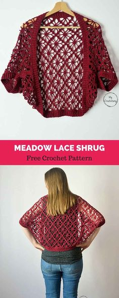 ideas for crochet summer shrug pattern link Shrug Pattern, Crochet Cardigan Pattern, Crochet Jacket, Crochet Shawl, Crochet Top, Crochet Summer, Crochet Patterns, Lace Shrug, Black Crochet Dress