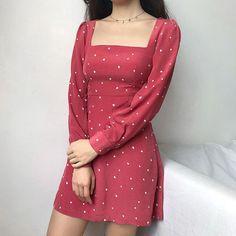 Korean Fashion – How to Dress up Korean Style – Designer Fashion Tips Cute Dresses, Beautiful Dresses, Casual Dresses, Short Dresses, Cute Outfits, Summer Dresses, Korean Fashion Trends, Asian Fashion, Moda Vintage