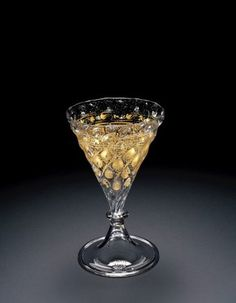 Goblet, about 1550-1600.  | Corning Museum of Glass #gold #goldleaf