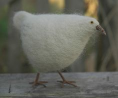 gallery - needle felted animals - felted hen