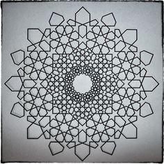 """Islamic Fractal Star"" by #PhilWebsterDesign .. #Fractal #Geometry #Islamic .."