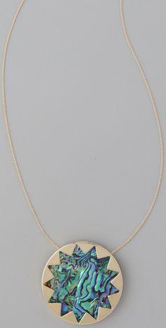 House of Harlow 1960  Abalone Sunburst Necklace  €65.50 | $80.00