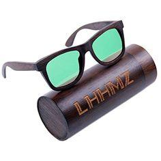 c8bfedb874 LHHMZ Gafas de sol polarizadas para hombre y mujer Gafas de madera ligeras  hechas a mano