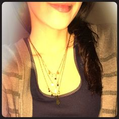 Free People Jewelry - 3 layered moon necklace
