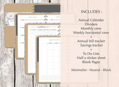 Digital Planner Horizontal For GoodNotes Notability etc.