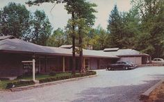 Holiday Hill Motel - Gatlinburg, Tennessee | Flickr - Photo Sharing!  Built in 1952. Near Park entrance. Scenic, restful location on ridge 200 yards off U.S. 441. Large, comfortable rooms, electric radiant heat, ceramic tile baths, tub and shower. No pets. Rates $3.00 to $4.00 per person. Mr. and Mrs. Roger Pratt, owners. Phone 328-R. AAA Approved.
