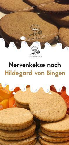 Nerve biscuits after Hildegard von Bingen - Nerve cookies according to Hildegard von Bingen – recipes - Frosting Recipes, Cookie Recipes, Snack Recipes, Dessert Recipes, Snacks, Yummy Recipes, Food Cakes, Cake Vegan, Sugar Cookie Icing