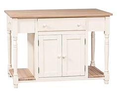 Tavolo in legno massello con 3 cassetti e ante - 130x88x80 cm