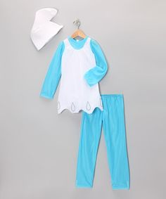 Take a look at this Blue Smurfette Fancy Dress-Up Set - Girls by Smurfs on #zulily today!