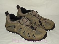 MERRELL Chameleon 4 Stretch Boulder Leather Hiking/Trail Sneakers Mens Size 10