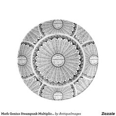 Math Genius Steampunk Multiplication Table Porcelain Plate