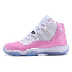 Womens Jordan 11 GS White Pink Buy Authentic