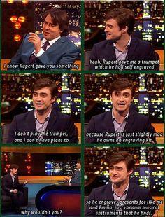 Because Rupert is slightly mad..
