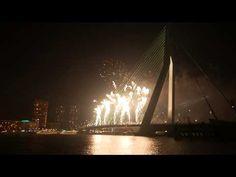 Fireworks Erasmusbrug Rotterdam 2015 - YouTube