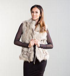 Beige Fox Fur Vest     #beige #fox #fur #vest #real #style #realfur #elegant #haute #luxury #chic #outfit #women #classy #online #store