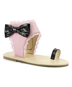 Pink Toe Ring Sandal