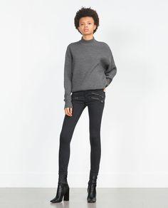BIKER TROUSERS WITH ZIPS-Jeans-Woman-COLLECTION SS16 | ZARA United States