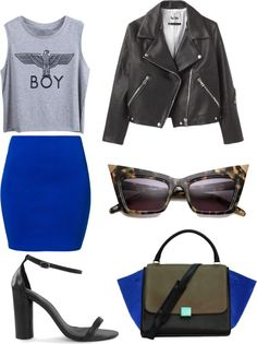 """Bleu Roi"" by lachrodemode on Polyvore"