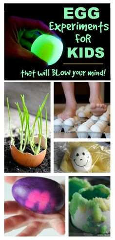 Mind blowing egg experiments for kids- some of these are SO COOL!