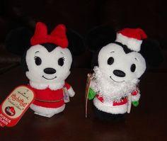 Hallmark Itty Bittys Disney Minnie and Mickey Limited Edition 2013 Free Shipping