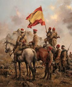 La Pintura y la Guerra. Sursumkorda in memoriam Spain History, Art History, Military Art, Military History, Spanish War, Military Modelling, Conquistador, Historical Art, Illustrations