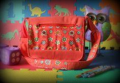 Sac messager pour enfant - Sac à bandoulière fleurs - Étui pour ipad orange de la boutique Mafelou sur Etsy