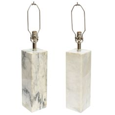 Pair of Vintage Carrara Marble Lamps/ SATURDAY SALE | From a unique collection of antique and modern table lamps at http://www.1stdibs.com/furniture/lighting/table-lamps/