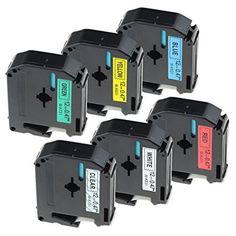5x Printer kompatible Schriftbänder für Brother TZE541 Schwarz auf Blau Easy Pri