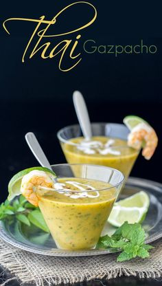 This Thai Gazpacho embodies all the wonderful salty, sweet, spicy, sour flavors that are so delicious in Thai food in a chilled soup! It's a really nice spin on traditional gazpacho and perf… Thai Recipes, Cooking Recipes, Cold Soups Recipes, Detox Recipes, Salmon Recipes, Chilled Soup, Soup And Salad, Soups And Stews, Summer Recipes