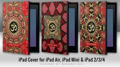 OM Art & Symbols series : Book type cover #iPad Cases for iPad Air, iPad Mini and iPad 2/3/4 ~ designed by Webgrrl available at online shop Electronika #zazzle