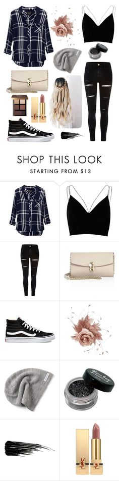 """""""Follow me back to high school"""" by melissakingsbury ❤ liked on Polyvore featuring Rails, River Island, Dolce&Gabbana, Vans, NERIDA FRAIMAN, Converse, Urban Decay, Yves Saint Laurent and Bobbi Brown Cosmetics"""