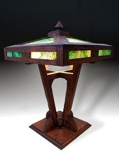 Mission Table Lamp, attributed to Brooks