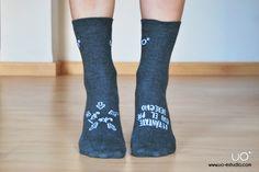 """uo happy socks: """"levántate con el pie derecho, este este!"""" latiendadeuo.com"""